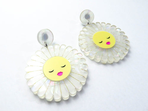 Peaceful Daisy Dangle Earrings