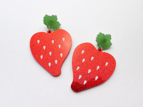 Strawberry Dangle Earrings