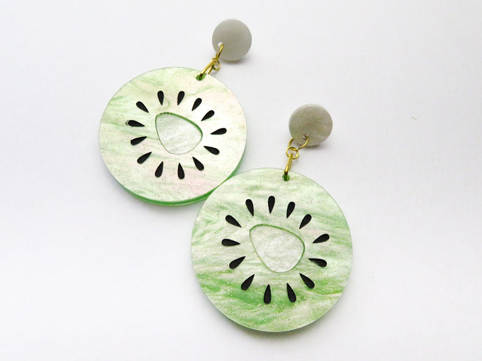 Kiwi Fruit Dangle Earrings
