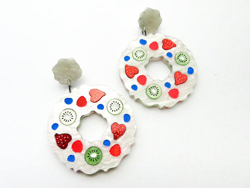 Pavlova Wreath Earrings - Glitter