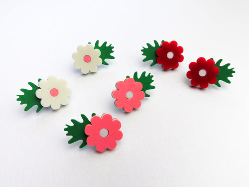 Flower and Leaf Studs