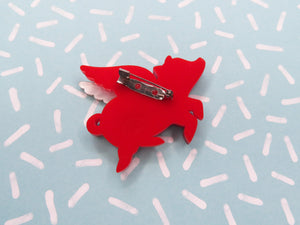 Flying Pig Brooch for Valentine's Day