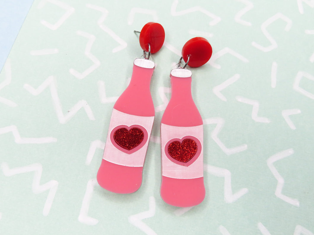 Soda Bottle Dangle Acrylic Earrings