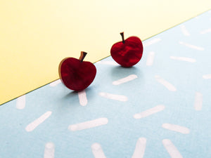 Tiny Cherry Studs Acrylic Earrings