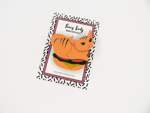 Kitty Burger Brooch