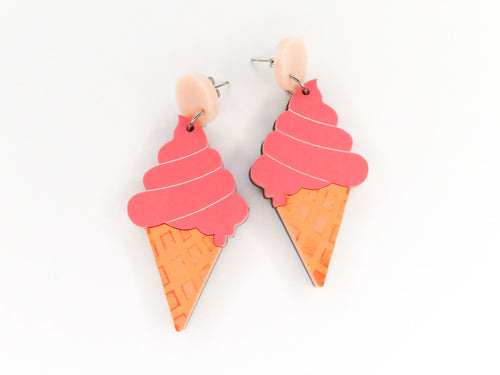 Soft Serve Cone Earrings
