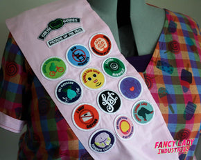 Decorated By Stretchmarks Girth Guides Patch