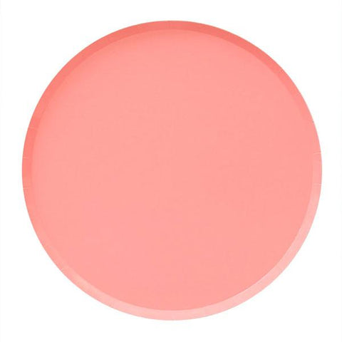 Neon Coral Plate (large)