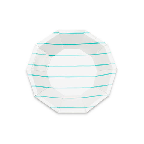 Frenchie Striped Plates-MINT (petite)