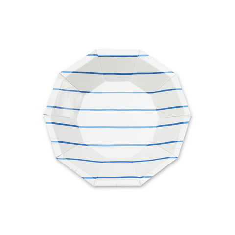 Frenchie Striped Plates-COBALT (petite)