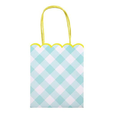 Blue Gingham Party Bags