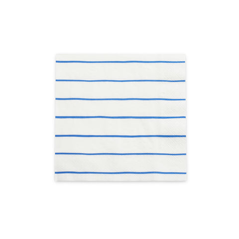 Frenchie Stripe Napkins-COBALT (large)