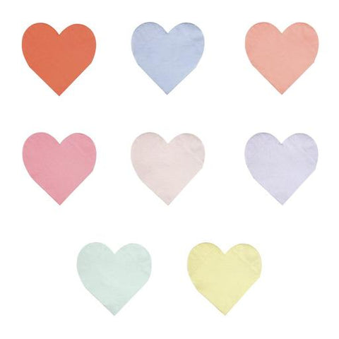Pastel Palette Heart Small Napkins