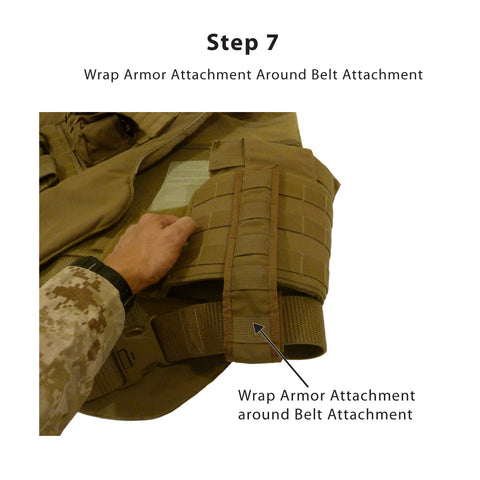 Step 7<br /> -- Wrap the Armor Attachment around the Belt Attachment and secure using the Velcro