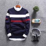 Fashion Round Collar Soft Pullover Slim Fit Mens Sweaters
