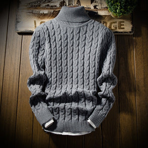 Fashion Turtleneck Thick Warm Sweater for Men