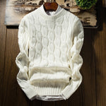 Men Long Sleeve Slim Fit Knitting Winter Thick Sweater
