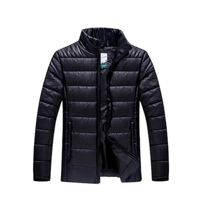 Men Waterproof Thick Warm 2 in 1 Parkas Patchwork Hooded Downs Coats Outwear L- 6XL
