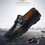 Fashion Men Handmade Big Size Top Quality Casual Alligator Style Loafers