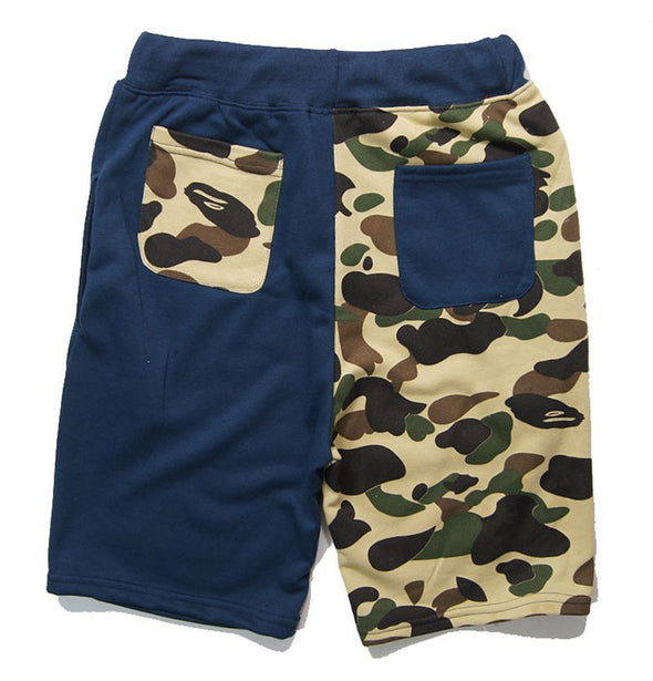 New Shark Print Camouflage Contrast Beach Pants