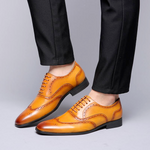 Formal Wedding Party Shoes Men Leather Shoes Retro Brogue Shoes