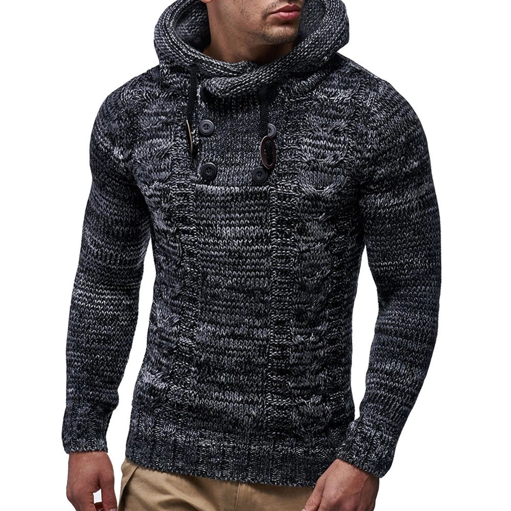 Pullover Knitted Cardigan Hooded Sweater