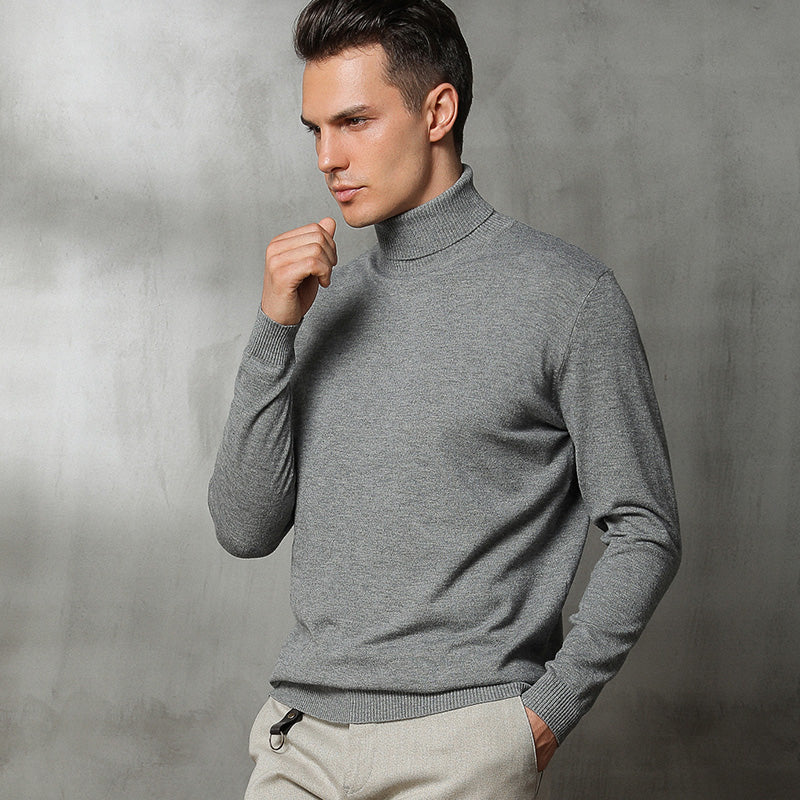 Autumn and Winter New High-neck Cashmere Sweater