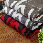Letter Printed Casual Pullovers High Quality Warm Men's Knitted Sweaters