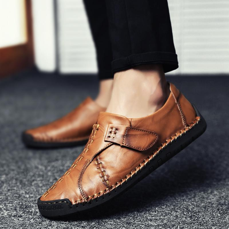 Fashion Slip On Hand-sewn Moccasins Men's Casual Shoes