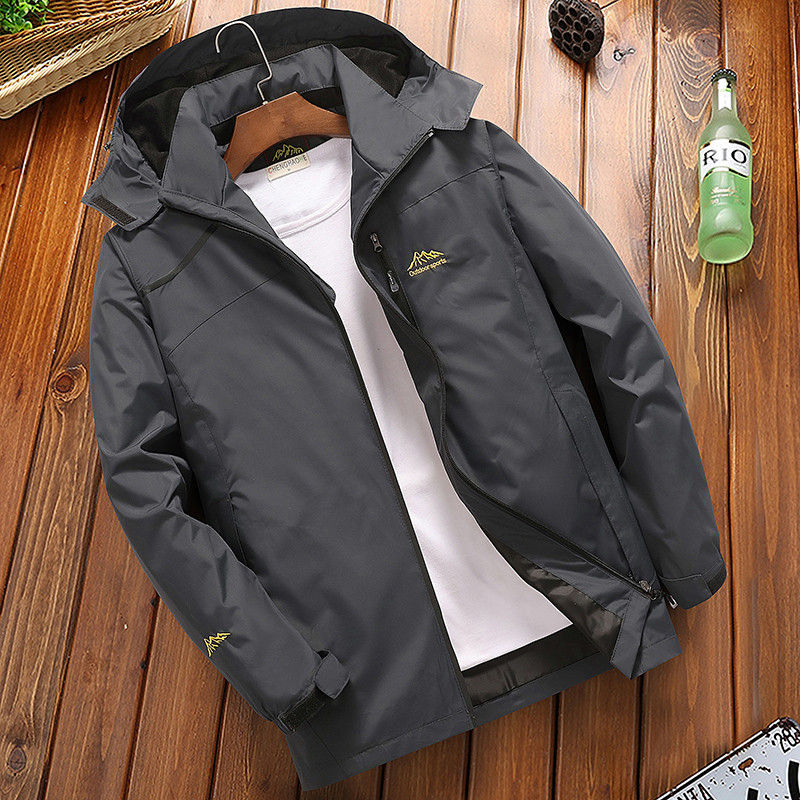 Men's Casual Waterproof Jacket Windbreaker Bomber Jacket
