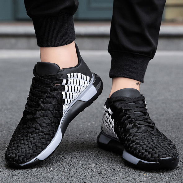 Men's Shoes Fashion Summer Men Woven Mesh Sneakers Breathable Sneakers
