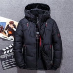 Winter Warm Thicken Men's Hooded Casual Slim Zipper Pocket Down Coat Jackets (50% WDD)
