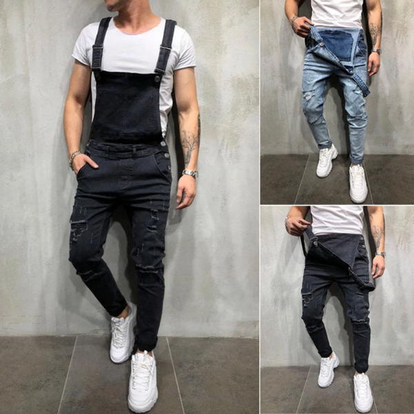 Denim Overalls Suspenders Jump Pants