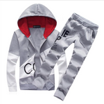 Plus Size Fashion Brand Men Sets Track Sweat Suits