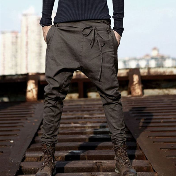 Lace-Up Harem Pants