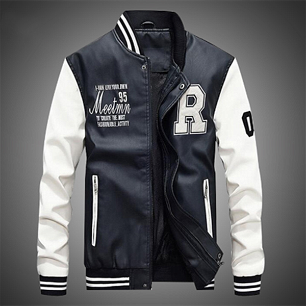 Baseball Jacket Men Hip Hop Hoodies Sweatshirt Coat
