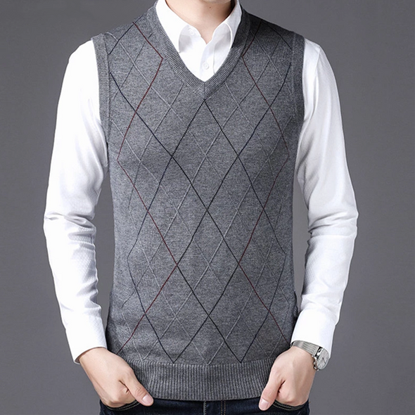 Autumn Winter New Arrival Knitted Cashmere Wool Sweater Vest