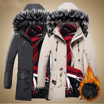 Men High Quality Fashion Warm Coats Men's Casual Jacket Hooded Parkas
