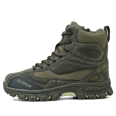 Ankle Rubber Military Combat Casual Outdoor Work Safety Boots