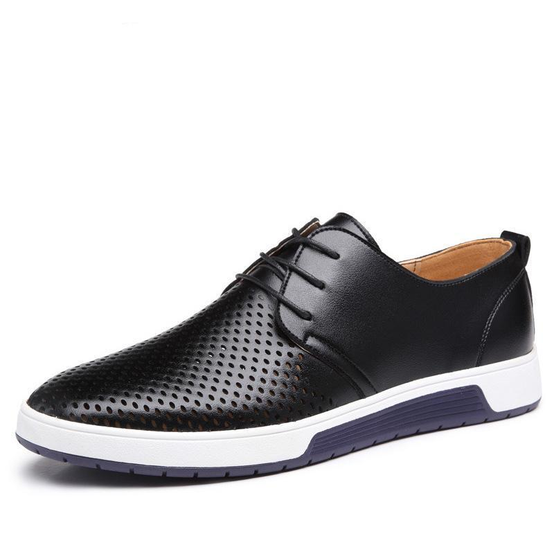 Luxury Breathable Holes Men's Casual Shoes