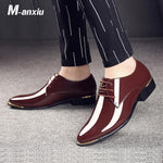 luxury Brand Classic Pointed Toe Men Wedding Oxford Formal Shoes