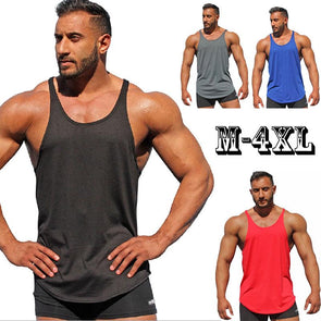 Plus Size Summer New Bodybuilding Sleeveless