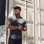 Men Short Sleeve Casual Fashion Fitness T-shirt