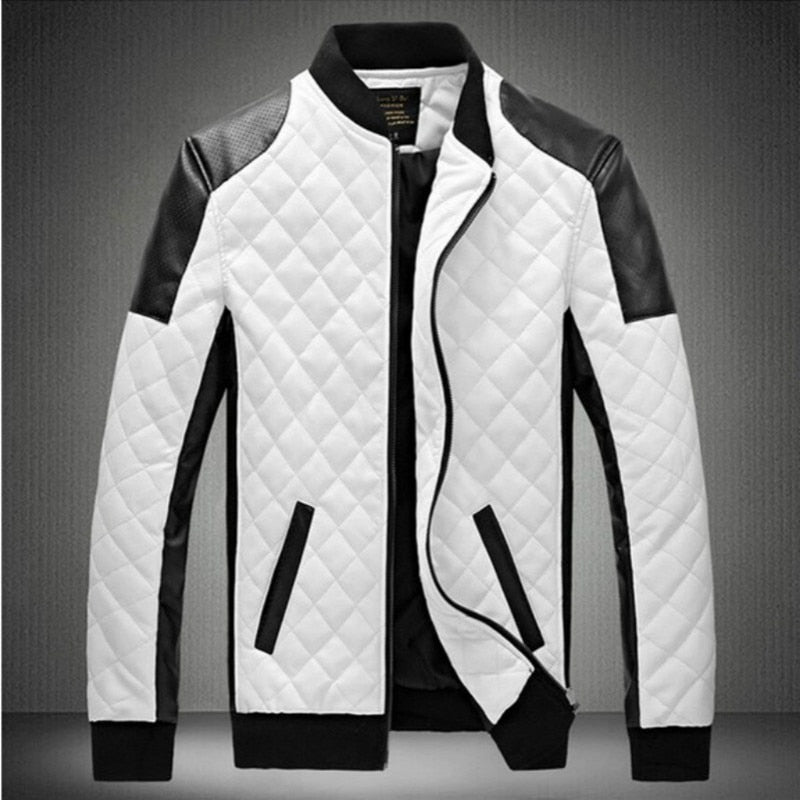 Top Fashion White Leather Jacket