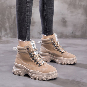 New Brand Fashion Flock Ankle Boots