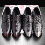 Crocodile Pattern Men New Style Doug Casual Leather Shoes