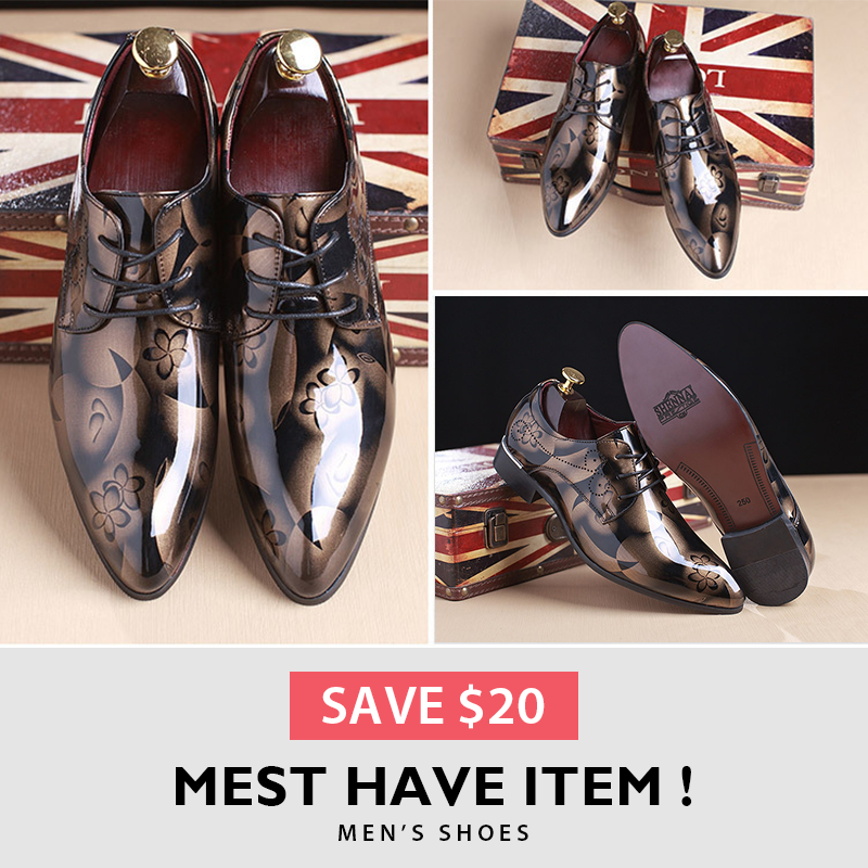 British Style Men Top Formal Banquet Vogue Large Yards Dress Shoes