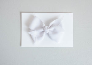 Simply Ellie White Ribbon Bow