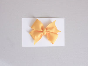 Simply Ellie Solid Yellow Ribbon Bow