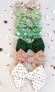 Simply Ellie Green Buffalo Check Cotton Bow